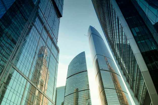 Cidade de moscou (moscow international business center), rússia