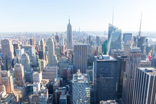 Cidade de nova york. manhattan, empire state building