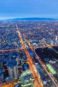 Cidade de osaka a partir de abeno harukas