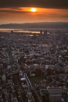 Cidade de osaka e o horizonte
