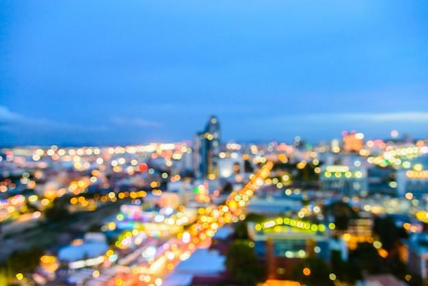 Cidade de pattaya borrão abstrata