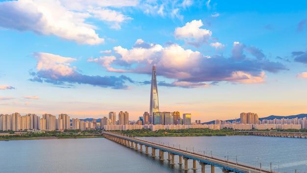 Cidade de seul e rio han coreia do sul