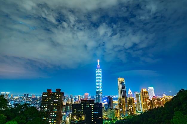 Cidade de taipei à noite, taiwan