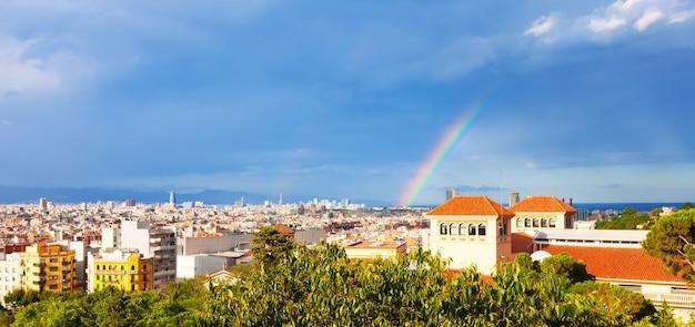 Cidade do palácio nacional de montjuic. barcelona
