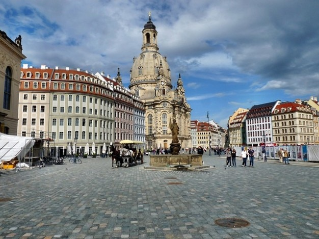 Cidade história neumarkt historicamente dresden