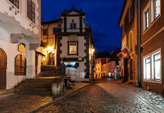Cidade velha cesky krumlov na república tcheca
