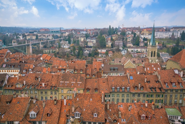 Cidade velha de berna, capital da suíça na europa