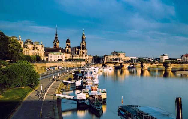 Cidade velha de dresden no rio