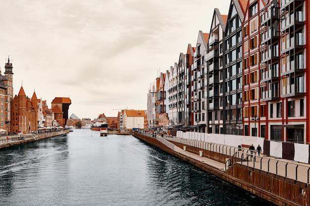 Cidade velha de gdansk, polônia. arquitetura européia.