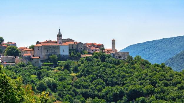Cidade velha de labin em ístria, croácia, europa.