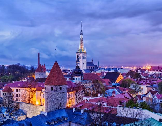 Cidade velha medieval de tallinn, estônia