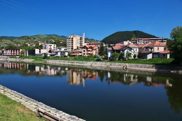 Cidade visegrad na bósnia e herzegovina