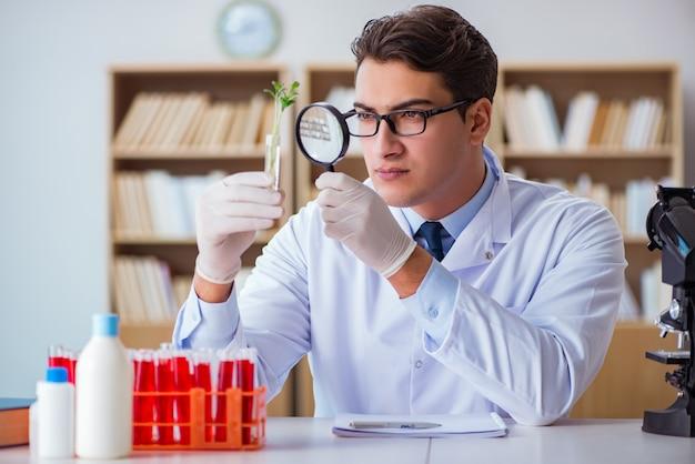 Cientista de biotecnologia trabalhando no laboratório