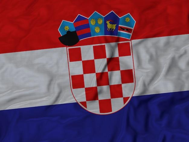 Cima, de, babados, bandeira croácia