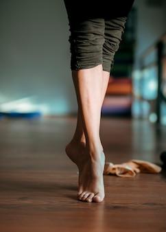 Cima, de, femininas, dançarino, pés