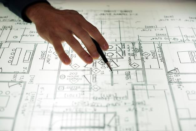Cima, de, mãos, trabalhar, disposição