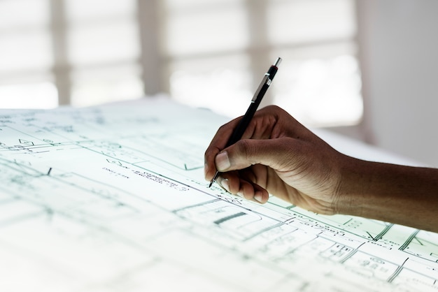 Cima, de, mãos, trabalhar, paperwork