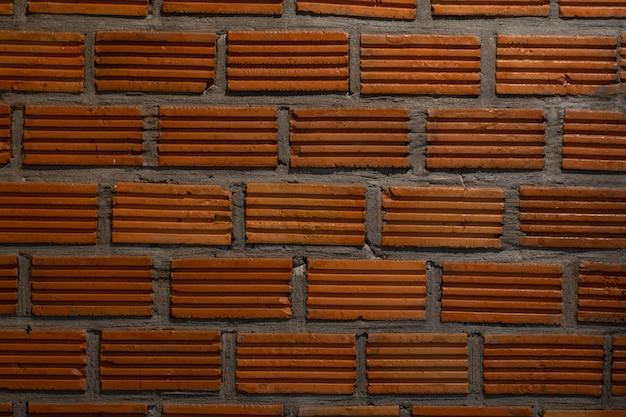 Cima, de, parede tijolo, ferrugem, fundo
