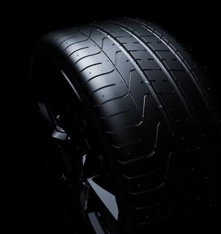 Cima, de, um, pneu
