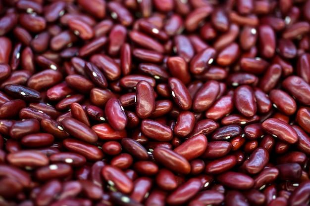 Cima, feijões vermelhos, fundo