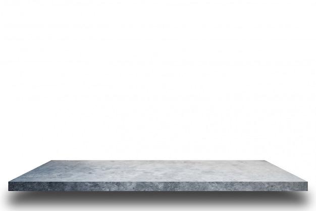 Cimente a prateleira e fundos brancos do muro de cimento, para a exposição do produto.
