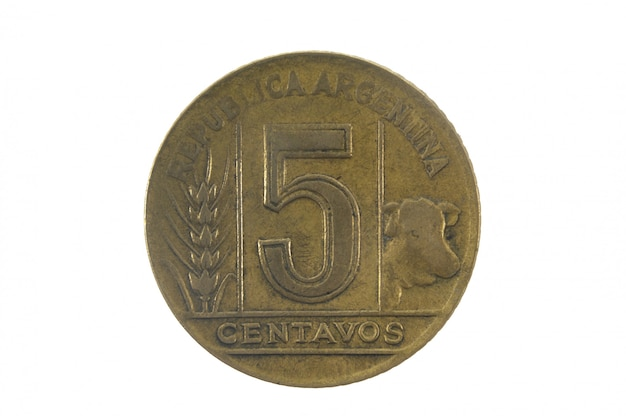 Cinco centavos 1945, moeda olf da argentina