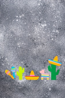 Cinco de mayo, conceito mexicano do dia da festa.