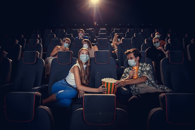 Cinema durante quarentena Foto gratuita