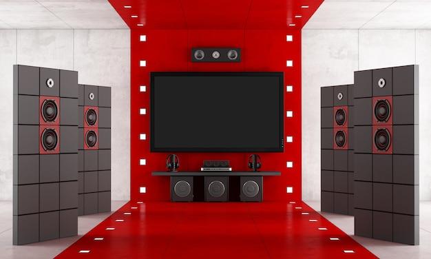 Cinema em casa de luxo