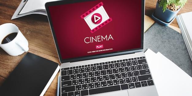 Cinema theatre multimedia film entertainment concept