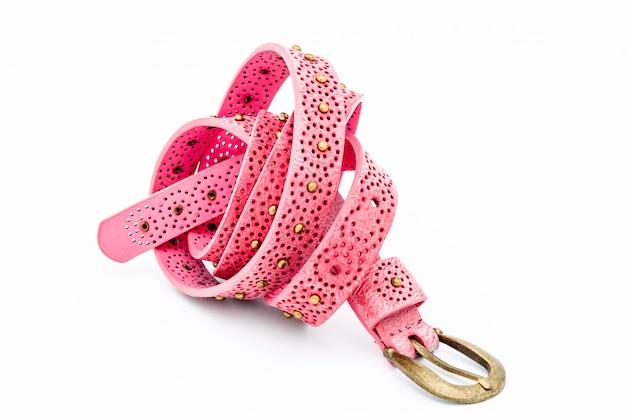 Cintos de mulheres cor de rosa