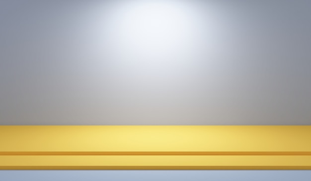 Cinza escuro abstrato com sala de estúdio vazio do papel de parede branco de fundo gradiente usado para exibir o modelo de site de anúncio de produto, ilustração 3d