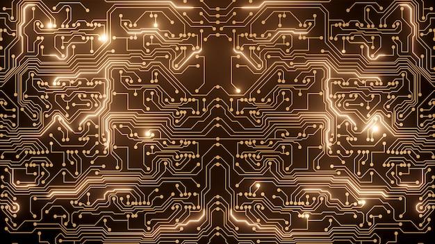 Circuito abstrato dourado