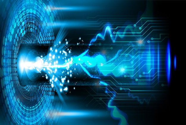 Circuito cibernético conceito de tecnologia do futuro plano de fundo dados informações privacidade ideia abstrato oi velocidade