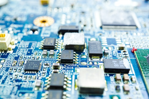 Circuito de computador cpu chip mainboard núcleo processador dispositivo eletrônico.