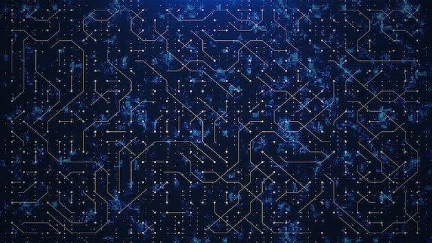 Circuito do mundo azul abstrato