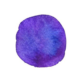 Círculo brilhante pintado. textura de pintura em aquarela.