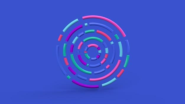 Círculo colorido molda o fundo azul