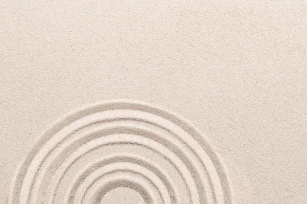 Círculo de areia zen no conceito de atenção plena