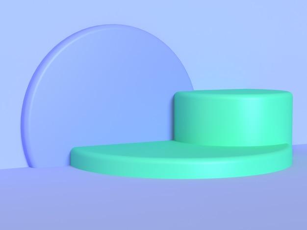 Círculo de cilindro verde violeta-azul-roxo