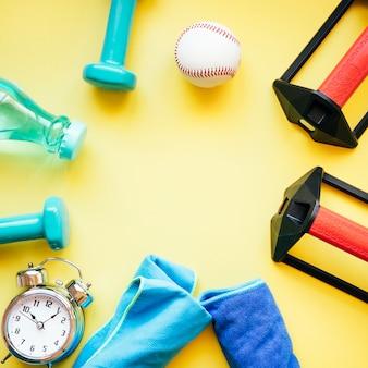 Círculo de equipamentos esportivos