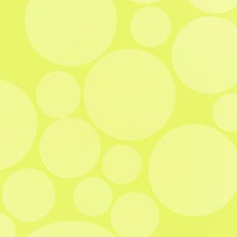 Círculo de foco suave no pano de fundo amarelo para cartão