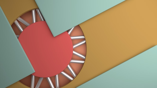 Círculo de fundo do tubo