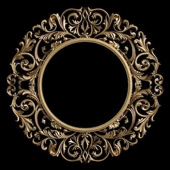 Círculo de quadro clássico com decoração de ornamento