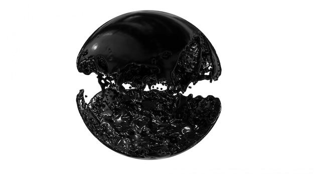 Círculo de respingo de óleo de tinta redondo quadro com espaço