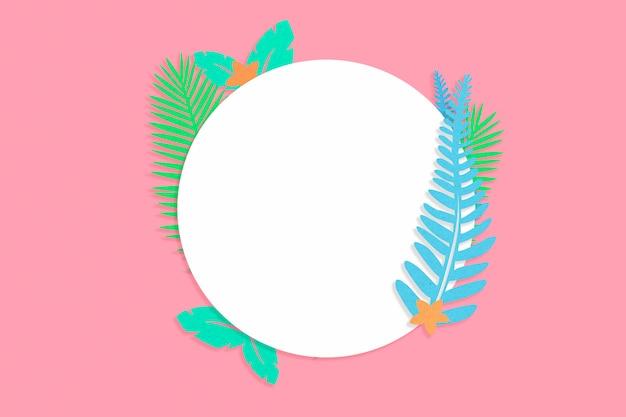 Círculo de verão tropical