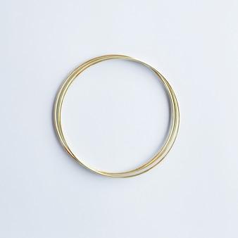 Círculo dourado com copyspace