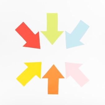 Círculo formado por flechas
