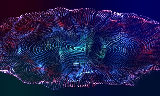 Círculo moderno efeito 3d colorido fundo curva
