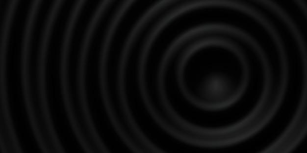 Círculo ondulado abstrato círculo ondulado da água fundo brilhante oscilante ilustração 3d